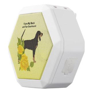 Schwarzesund TANCoonhound und gelbe Rosen Weiße Bluetooth Lautsprecher