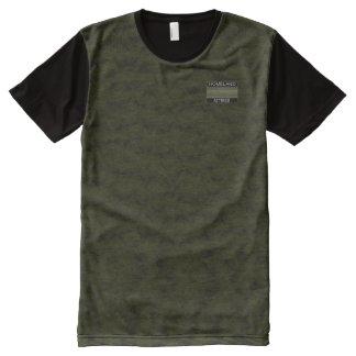 Schwärzlicher grünlicher Designer-moderner T-Shirt Mit Komplett Bedruckbarer Vorderseite