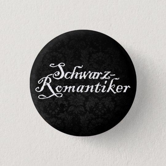 Schwarzromantiker (black) runder button 3,2 cm