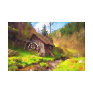 Schwarzwald-Mühle Leinwanddruck