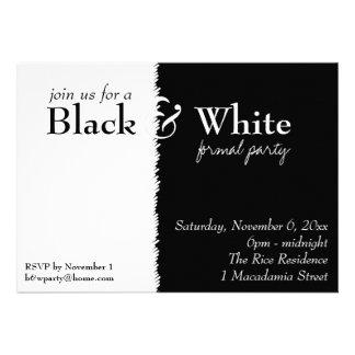 Schwarzweiss-2 Thema-Party Einladung