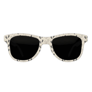 Schwarzweiss-Abdruck-Sonnenbrille Brille