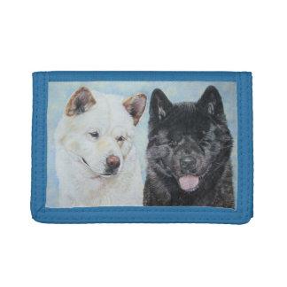 Schwarzweiss-Akita-Realisthundeporträtentwurf