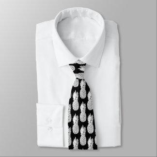 Schwarzweiss-Ananasfruchtmuster-Hals-Krawatte Krawatte