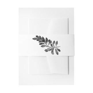 Schwarzweiss-Aquarell-Blumenhochzeit Einladungsbanderole