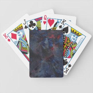 Schwarzweiss auf blauem und rotem Hintergrund Bicycle Spielkarten
