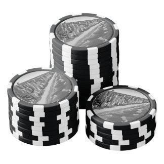 Schwarzweiss-Australien Gold Coast Pokerchips