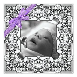 Schwarzweiss-Baby-Geburts-Mitteilung Karte