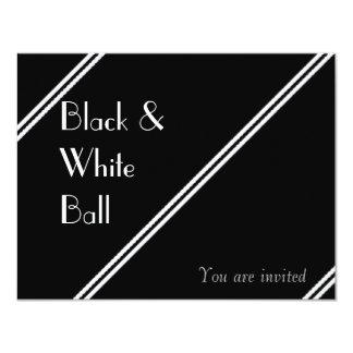 Schwarzweiss-Ball 10,8 X 14 Cm Einladungskarte