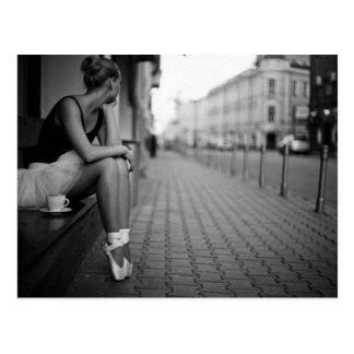 Schwarzweiss-Ballerina Postkarte