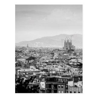 Schwarzweiss-Barcelona Postkarte
