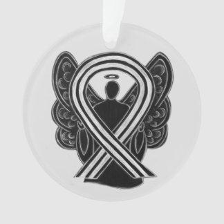 Schwarzweiss-Bewusstseins-Band-Engels-Verzierungen Ornament