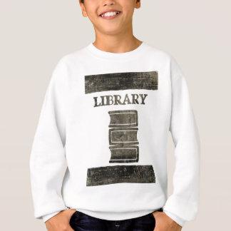 Schwarzweiss-Bibliotheks-Buch Sweatshirt