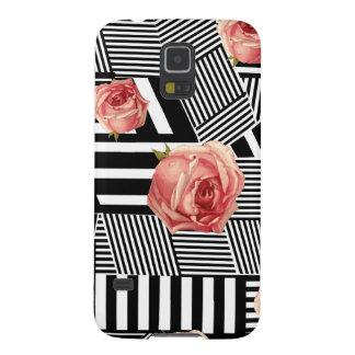 Schwarzweiss-Blumen Galaxy S5 Cover
