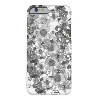 Schwarzweiss-Blumen iPhone 6/6s Kasten Barely There iPhone 6 Hülle