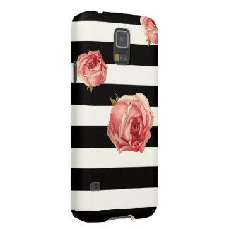 Schwarzweiss-Blumen Samsung S5 Cover