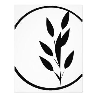 Schwarzweiss-Blumenmuster 21,6 X 27,9 Cm Flyer