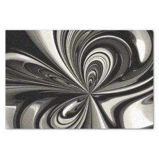 Schwarzweiss-Bogen abstrakt Seidenpapier