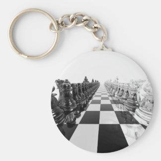 Schwarzweiss-Brett des Schach-3D Schlüsselanhänger