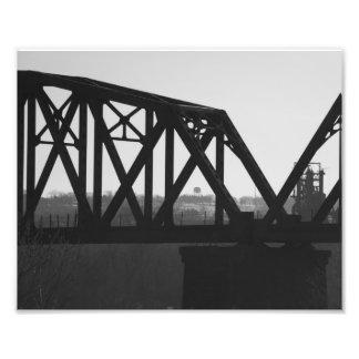 Schwarzweiss-Brücke Fotografischer Druck