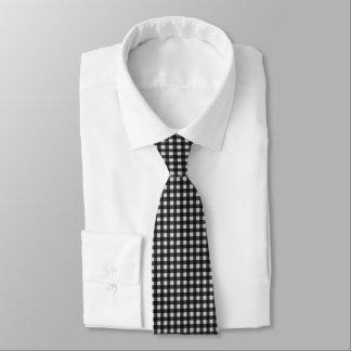 Schwarzweiss-Büffel-Karo-Holzfäller kariert Krawatte