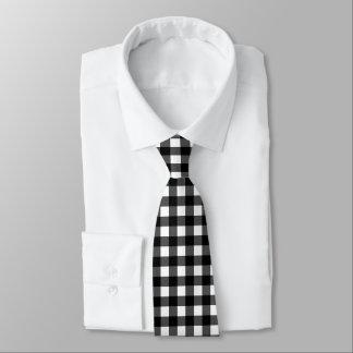Schwarzweiss-Büffel-Karo-Krawatte Krawatte