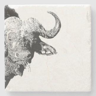 Schwarzweiss-Büffel Steinuntersetzer
