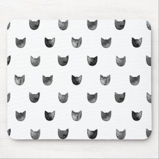 Schwarzweiss-Chic-niedliches Katzen-Muster Mousepad