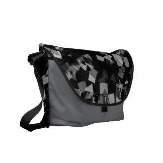 Schwarzweiss-Confetti-Bote-Tasche Kurier Taschen