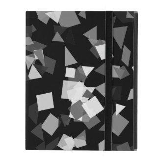 Schwarzweiss-Confetti iPad Hülle