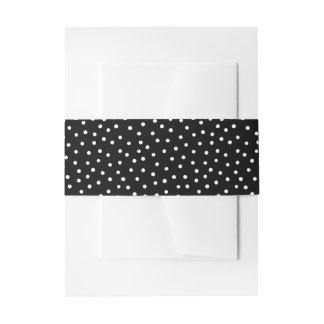 Schwarzweiss-Confetti-Punkt-Muster Einladungsbanderole