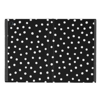 Schwarzweiss-Confetti-Punkt-Muster iPad Mini Etuis