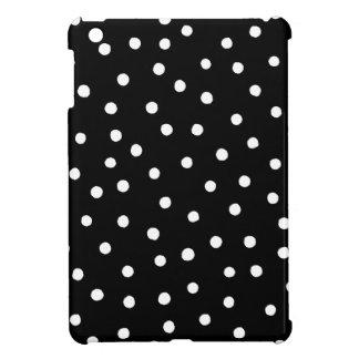 Schwarzweiss-Confetti-Punkt-Muster iPad Mini Hülle