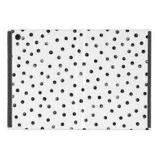 Schwarzweiss-Confetti-Punkte Hülle Fürs iPad Mini