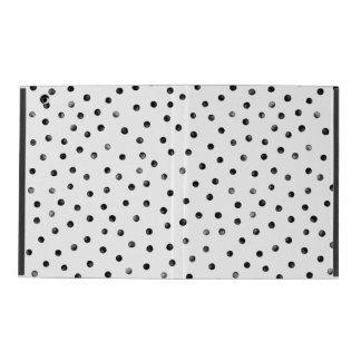 Schwarzweiss-Confetti-Punkte iPad Etuis