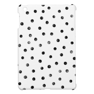 Schwarzweiss-Confetti-Punkte iPad Mini Hülle