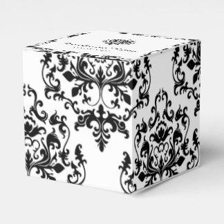 Schwarzweiss-Damast-Gastgeschenk Hochzeits-Kasten Geschenkschachtel