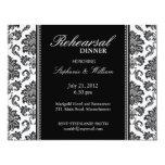 Schwarzweiss-Damast-Proben-Abendessen-Karte Einladungen