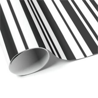 Schwarzweiss-Designerstreifen - hohe Qualität Geschenkpapier
