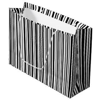 Schwarzweiss-Designerstreifen - hohe Qualität Große Geschenktüte