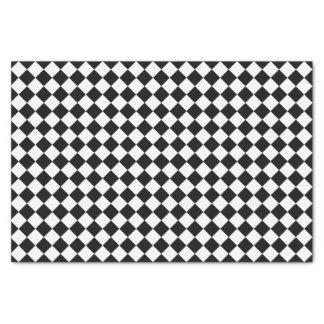 Schwarzweiss-Diamant-Muster durch Shirley Taylor Seidenpapier
