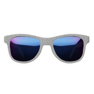 Schwarzweiss-Diamanten Brille