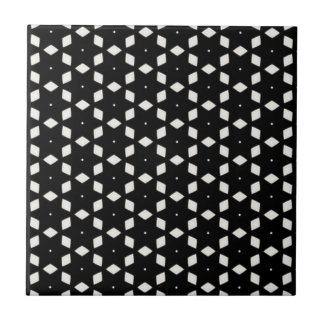 Schwarzweiss-Diamanten und Sterne der Muster-| I Keramikfliese