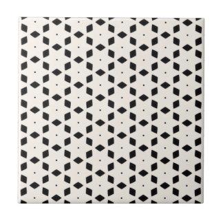 Schwarzweiss-Diamanten und Sterne der Muster-| II Keramikfliese