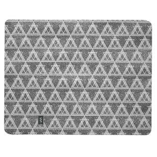 Schwarzweiss-Dreieck-geometrisches Muster Taschennotizbuch