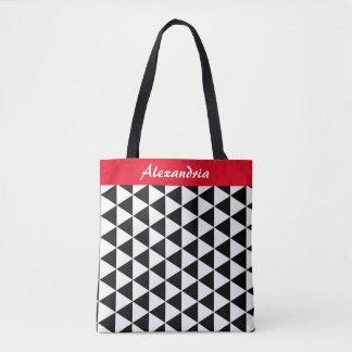 Schwarzweiss-Dreieck-Taschen-Tasche Tasche