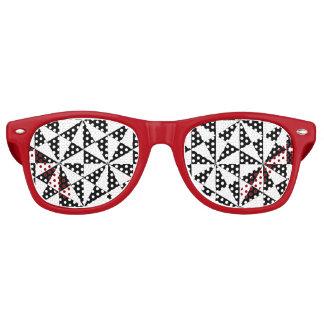 Schwarzweiss-Dreieckmuster Partybrille