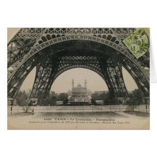 Schwarzweiss-Eiffelturm-Basis Karte
