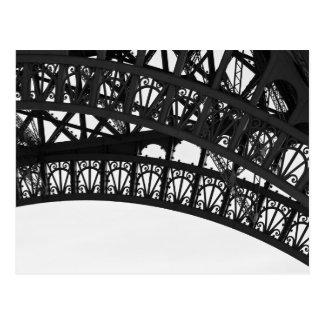Schwarzweiss-Eiffelturm-Bogen-Postkarte - Paris Postkarte