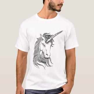 Schwarzweiss-Einhorn T-Shirt
